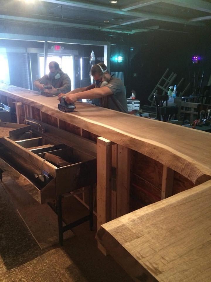 Building a bar top